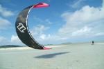 Kite surf dans l'océan indien